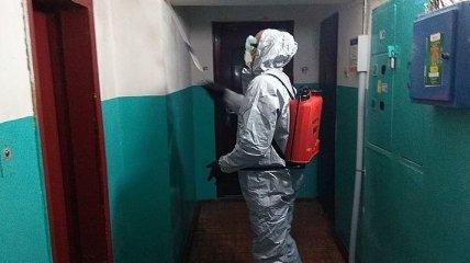 Черкасские спасатели продезинфицировали дом вернувшейся из Италии женщины (Видео)