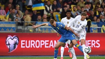 Андрей Ярмоленко в матче Украина - Франция