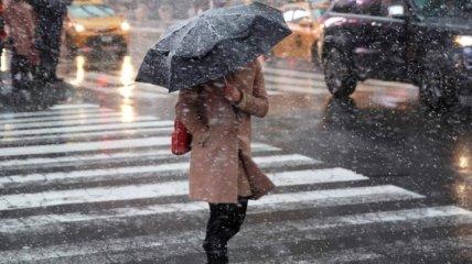 Дожди с мокрым снегом идут в Украину: прогноз погоды на 16 марта