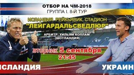 Исландия - Украина: 2:0: события матча