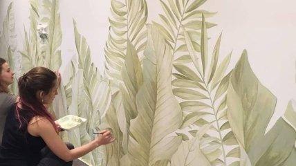 Приклади декорування кімнат художнім розписом (Фото)
