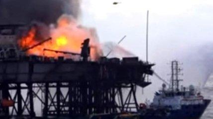 Пожар на азербайджанском месторождении забрал жизни 10 человек (Видео)