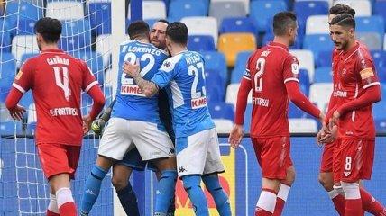 Наполи спокойно обыграл Перуджу в Кубке Италии