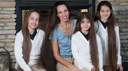 Необычная американская семья, в которой никто из женщин не стрижет волосы (Фото)