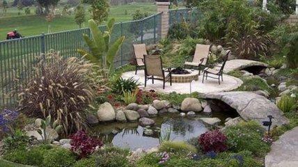 Камни в дизайне сада: оформление дачного участка (Фото)