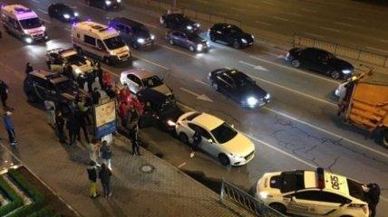 В Киеве после погони патрульных произошло тройное ДТП