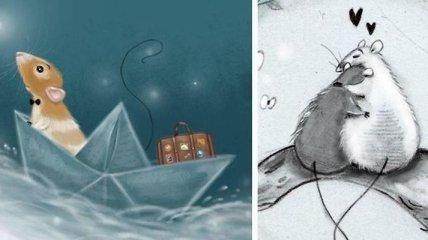 Очаровательные иллюстрации мышат и крыс (Фото)