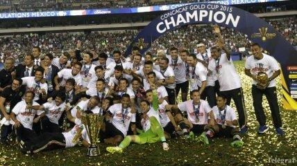 Сборная Мексики - обладатель Золотого кубка КОНКАКАФ-2015 (Фото+Видео)