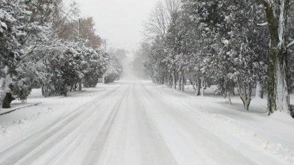 Популярный украинский курорт накрыл снежный шторм: фото и видео