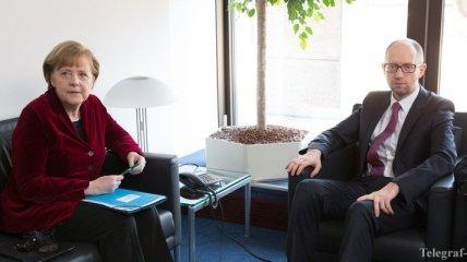 Сегодня Яценюк встретится с Меркель