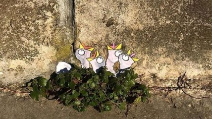 Стрит-арт на улицах Лиона: забавные рисунки французского художника (Фото)