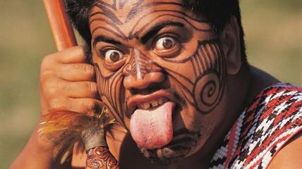 Маори - коренное население Новой Зеландии.