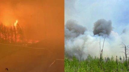 Якутию охватили сотни пожаров, огонь вплотную подошел к населенным пунктам  (видео, фото)