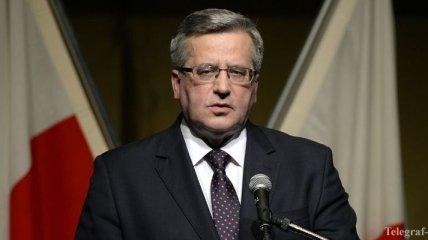 Коморовский признал поражение на выборах