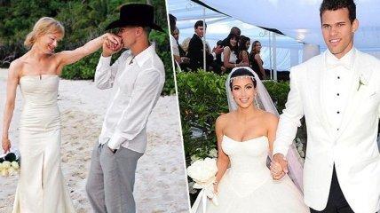 Топ самых непродолжительных браков среди звезд: Вы будете удивлены