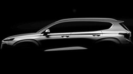 В сети появилось первое официальное фото автомобиля Hyundai Santa Fe 2019