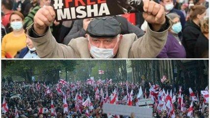 У Тбілісі пройшов багатотисячний мітинг на підтримку Михайла Саакашвілі