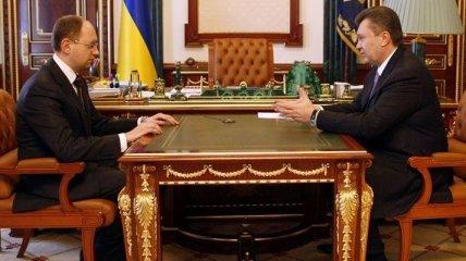 К Януковичу пустили только Яценюка