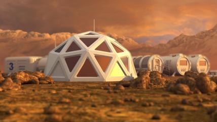 Как будут выглядеть строения и из чего построят дома на Марсе пока остается загадкой
