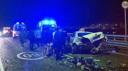 Фото аварии, в которую попала Собчак по дороге в аэропорт