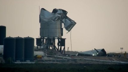 Опять неудача: SpaceX потеряла еще один прототип корабля Starship (Видео)