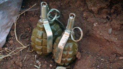 В Запорожской области обнаружили тайник с гранатами