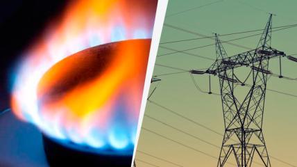 электричество и газ, иллюстративное фото