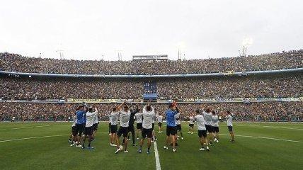 Почти 50 тысяч зрителей посетили тренировку ФК Бока Хуниорс (Видео)