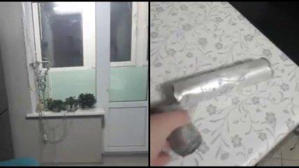 К россиянам на праздники прилетела в квартиру военная ракета (видео)