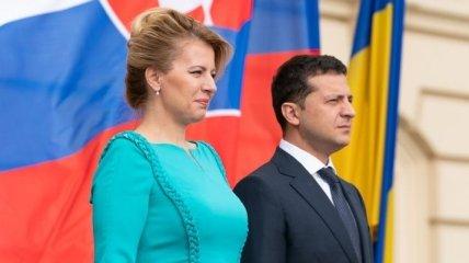 Зеленский провел встречу с президентом Словакии (Фото, Видео)