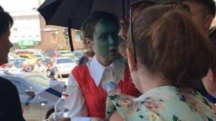 Королевская обратилась в больницу после того как ее облили зеленкой в Одессе