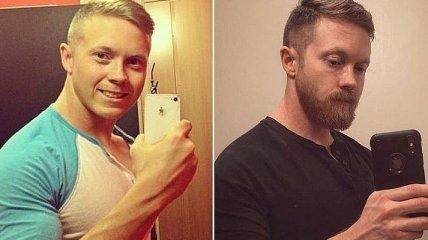 Из мальчика в мужчину и наоборот: примеры влияния бороды на внешний вид (Фото)