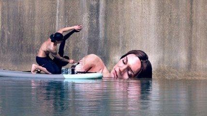 Потрясающие уличные работы: граффити у воды от гавайского художника (Фото)