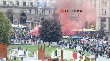 Марш прибыл на Майдан Независимости.