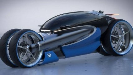 Bugatti представляет новый мотоцикл Type 100M Concept во всех традициях компании (Фото)