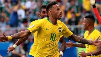 Сборная Бразилии уверенно выходит в 1/4 ЧМ-2018, обыграв Мексику