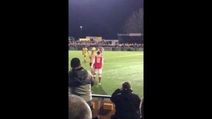 Футбольный фанат в трусах и шапке жирафа прервал матч (Видео)