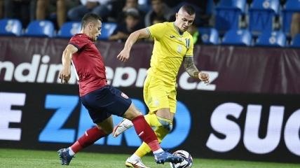 Александр Зубков в матче с Чехией