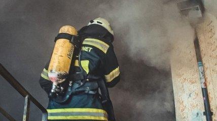 На пожаре под Киевом сгорел пенсионер (фото с места)