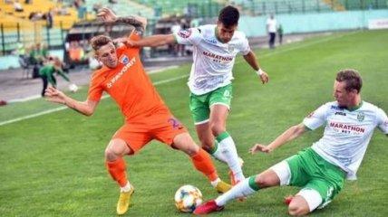 Карпаты отыграли два мяча в игре с Мариуполем и вырвали ничью