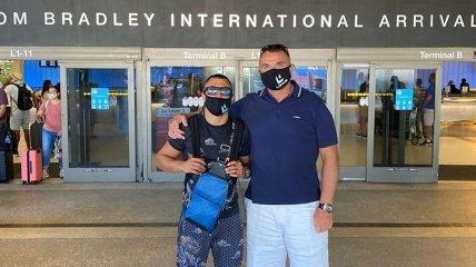 Ломаченко прибыл в США (Фото)