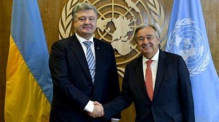 Порошенко обсудил с генсеком ООН освобождение политзаключенных