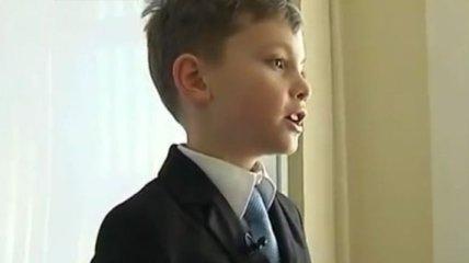 9-летний мальчик в Черкассах читает лекции в университете
