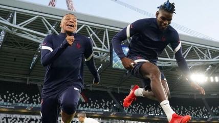 Сборная Франции готовится к игре