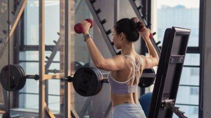 Тренировка на плечи и руки