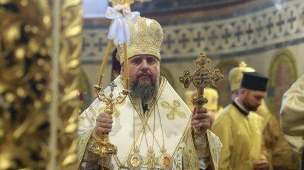 Епифаний провел литургию в Михайловском соборе ко Дню Крещения Руси: эксклюзивные фото