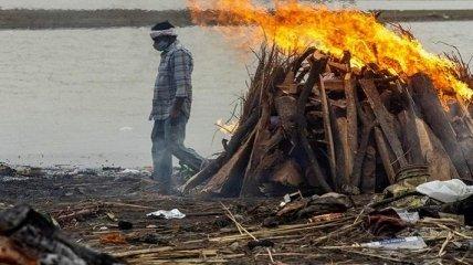 На берег священной реки в Индии выбрасываются тела сотен жертв коронавируса (видео)