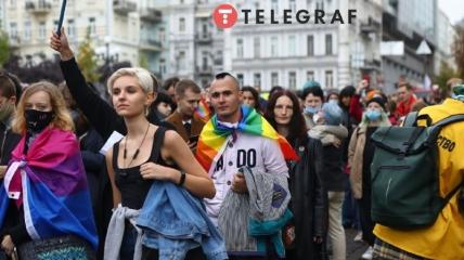 В Киеве представители ЛГБТ вышли на марш