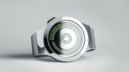 Уникальные футуристические часы из серебра