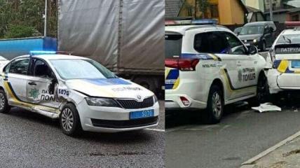 В Киеве за день произошло сразу две аварии с полицейскими авто
